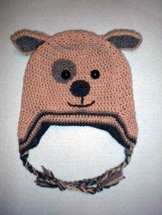 Crocheted hat dog
