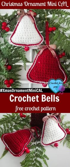 Christmas Ornament Mini CAL – Crochet Bells. #XmasOrnamentMiniCAL