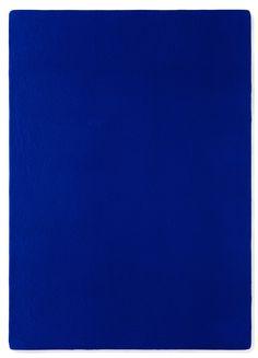 Yves Klein, untitled blue monochrome (IKB 181), 1956 [first monochrome exhibition 1957]