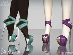 Sims 3 Shoe http://www.thesimsresource.com/downloads/details/category/sims3-clothing-female/title/madlen-grosseto-shoes/id/1231938/