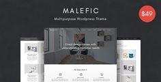 Malefic - Multipurpose One Page Responsive WordPress Theme