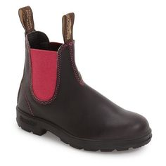 Women's Blundstone Footwear 'Original - 500 Series' Water Resistant... (9.960 RUB) ❤ liked on Polyvore featuring shoes, boots, vintage boots, suede chelsea boots, suede leather boots, water resistant boots and chunky-heel boots