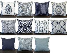 Pillow, Throw Pillow, Pillow Cover, Cushion, Decorative Pillow, Vintage  Indigo Blue