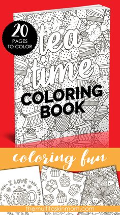 The Tea Time Coloring Book is the perfect coloring book for those who love food and coloring. Full of fun designs, shapes, and great things to color.
