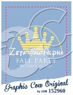 Fall Party crown Zeta Tau Alpha sorority PR mixer #grafcow