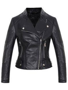 GET $50 NOW | Join Zaful: Get YOUR $50 NOW!http://m.zaful.com/faux-leather-rib-trim-biker-jacket-p_232191.html?seid=1308289zf232191