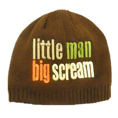 Little Man Big Scream beanie cap - £3.99