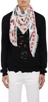Shop Now - >  https://api.shopstyle.com/action/apiVisitRetailer?id=674048470&pid=uid6996-25233114-59 Alexander McQueen Men's Skull-Print Silk-Blend Scarf  ...