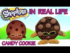 CANDY COOKIE Shopkins in Real Life - YouTube instead of using nuta for arms and feet use m&ms for feet hands and chocolate chips.