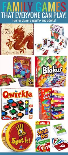 Eight Fun Family Games Everyone Can Play! - These favourite family games are perfect for kids aged 5+ and fun enough for adults to enjoy too. Family Game Night, Family Games, Family Activities, Night Kids, Indoor Activities, Fun Games, Games To Play, Board Games For Kids, Happy Family