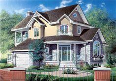 Farmhouse House Plan chp-10426 at COOLhouseplans.com