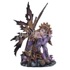 Sitting Autumn Fairy Statue - 05-91469 by Medieval Collectibles