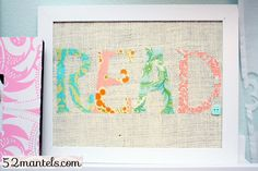 Felt Letter Board Decor. It's super cute, plus I love to read
