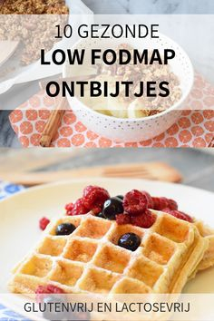 10 healthy low FODMAP breakfasts (gluten-free and lactose-free) low FODMAP healthy breakfast recipes. Delicious FODMAP breakfast ideas, such as FODMAP pancakes, waffles, granola and oatmeal Fodmap Recipes, Gluten Free Recipes, Gourmet Recipes, Low Fodmap Foods, Gluten Free Breakfasts, Healthy Breakfast Recipes, Breakfast Ideas, Healthy Recipes, Sweet Breakfast