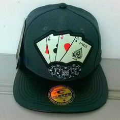 e92fb6234144d boné aba reta poker clonado Boné Aba Reta