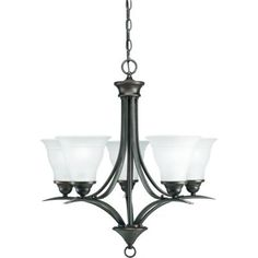 Progress Lighting Trinity Collection 5-Light Antique Bronze Chandelier-P4328-20 - The Home Depot