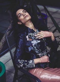 Zinnia Kumar Models.com Nil Hope Lara MUA Roger Cho Emma Pulbrook alexander Mcqueen atsuko kudo latex. IMG Models Worldwide London Indian model