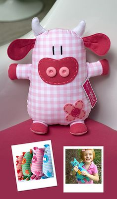 Amazing Home Sewing Crafts Ideas. Incredible Home Sewing Crafts Ideas. Sewing For Kids, Baby Sewing, Softies, Sewing Crafts, Sewing Projects, Fabric Animals, Fabric Toys, Sewing Dolls, Animal Pillows