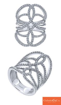 This is a perfect 14k White Gold Diamond Ring by Gabriel & Co. that is much needed for the winter holidays. Add this to your winter fashion wardrobe for a beautiful sparkle in your everyday outfit. The details and designs in this beautiful ring are so impeccable.