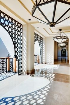 Balcony railing and arches
