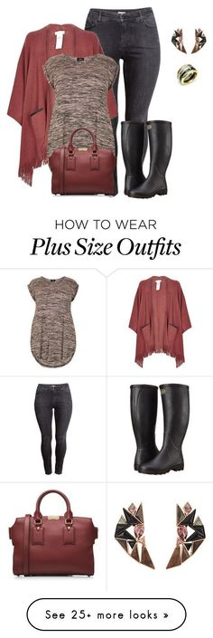"Check out good ""plus measurement poncho type look2 informal stylish"" by kristie-payne on Po..."