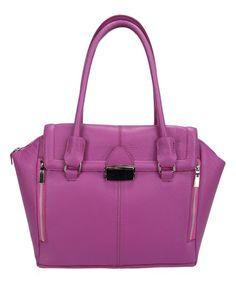 Fuchsia Pink Leather Bag
