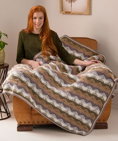 Ravelry: Unexpected Waves Throw pattern by Linda Dean