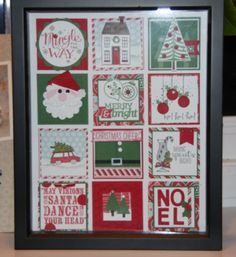 Christmas Collage Stamped Sampler - Class on Nov 17th www.stinkincutecards.com