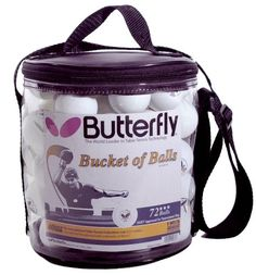 Butterfly Bucket of Table Tennis « Store Break Tennis Store, Sports Equipment, Balls, Count, Lunch Box, Bucket, Butterfly, Stars, Bento Box