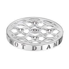 www.hotdiamonds.co.uk or www.emozioni.com 33mm Emozioni Sparkling Mirage coin £24.95