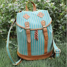 $47.99 USD [grlhx120080]Retro Green Grain Backpack Bag  Unique and Cool Design.