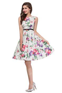 Tank Style Women Summer Vintage 50s Rockabilly Dresses Pinup Floral Print Dots Plaid Black Cocktail Party Dress Plus Size 6086 Alternative Measures