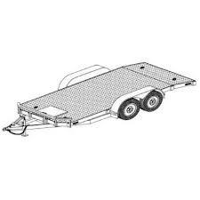 Car Carrier Trailer Plans - Model - Johnson Trailer Parts Car Hauler Trailer, Trailer Diy, Trailer Plans, Trailer Build, Homemade Trailer, Semi Trailer, Toy Hauler, Gooseneck Trailer, Camper Parts