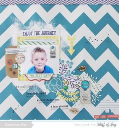 Katharina Frei - Scrapbooking Page created for Whiff of Joy