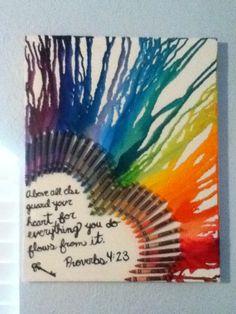 Crayon art with scripture :)