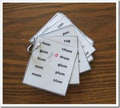 Word family cards to use for guided reading and phonics instruction....onset/rime