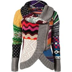 Every time I see this in the local store, I want it. Damn you, Desigual. Should probably start knitting tons of fair isle and cable swatches to get one. :P
