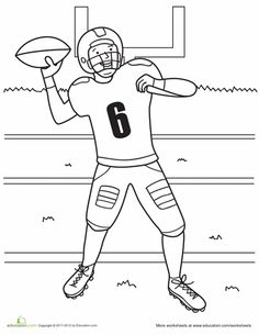 NFL Football Player Number 7 Coloring For Kids - Football Coloring ...