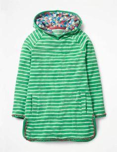 Stripy Towelling Dress #pompom#lining#floral