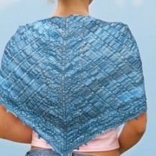 Knit One Crochet Too Blue Wings Shawl Knitting Pattern - One skein project