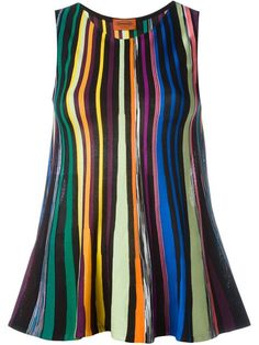 Shop Missoni striped knit sleeveless top  in Luisa World from the world's best independent boutiques at farfetch.com. Shop 300 boutiques at one address.