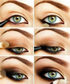 Eye make up ideea with black and gold