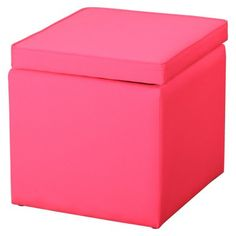 Someone Please Buy This Square Storage Ottoman In Pink For Me It S Only 20