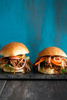 Pulled Pork Sliders with Asian Slaw