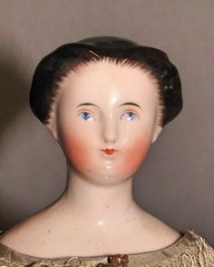 "13"" Bun China Doll with Brushstrokes - Faraway Antique Shop 2, http://farawayantiqueshop2.com/13-bun-china-doll-with-brushstrokes/"