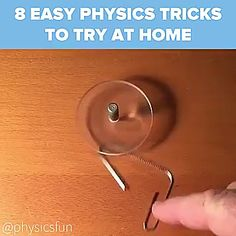 Amazing Science Experiments, Science Tricks, Cool Science Facts, Physics Experiments, Science Crafts, Science For Kids, Science Projects, Everyday Hacks, Diy Crafts Hacks