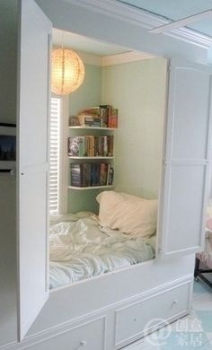 Find an old big armoire to make into my daughters secret nook! <3