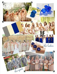 the ladies and gents - cobalt blue, gold and white wedding