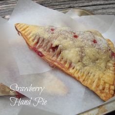 Strawberry Hand Pies - Chocolate Chocolate and More! Strawberry Hand Pies, Strawberry Recipes, Strawberry Picking, Strawberry Drinks, Strawberry Fields, Just Desserts, Delicious Desserts, Yummy Food, Yummy Yummy