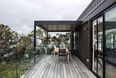 Langs Beach House, Langs Beach by Box Living Architecture Plan, Residential Architecture, Brick Building, Building A House, Exposed Trusses, Concrete Bench, Long Walls, Timber Structure, Level Homes